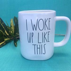 New Rae Dunn Woke Up Like This Ceramic Coffee Cup